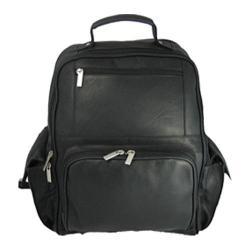 David King Leather 352 Large Computer Backpack Black