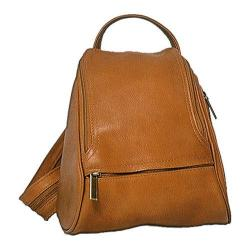 David King Leather 363 Convertible Backpack Sling Tan