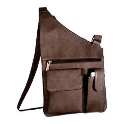 David King Leather 388 Cross Body Bag Cafe
