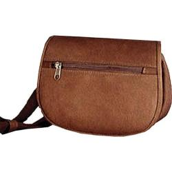David King Leather 401 Flap over Waist Pack Cafe
