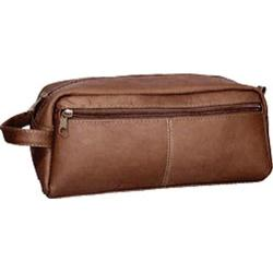 David King Leather 414 Large Multi Pocket Shave Kit Cafe