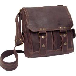 David King Leather 6121 Letter Sized Messenger Cafe