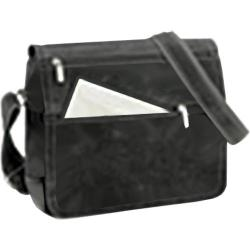 David King Leather 6155 Small Laptop Distressed Messenger Grey