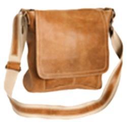 David King Leather 6188 Messenger Bag Tan