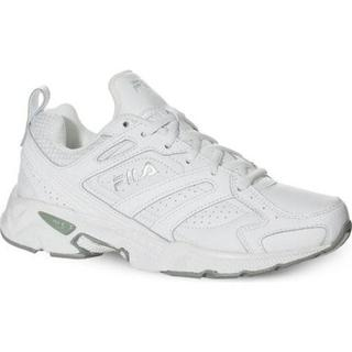 Women's Fila Capture White/White/Metallic Silver