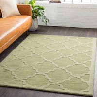 Hand-Woven Amy Tone-on-Tone Lattice Wool Rug