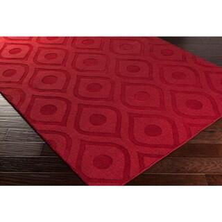Hand-Woven Abi Tone-on-Tone Wool Rug