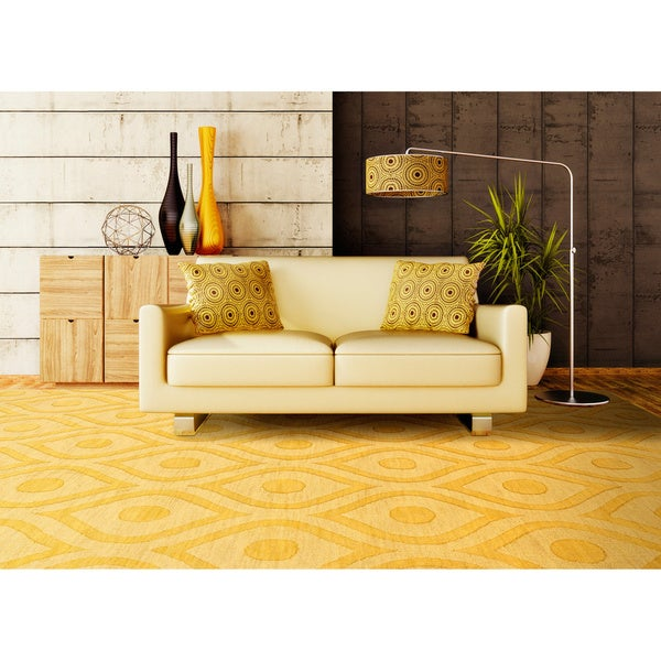 Hand-Woven Abi Tone-on-Tone Wool Rug - 8' x 10'