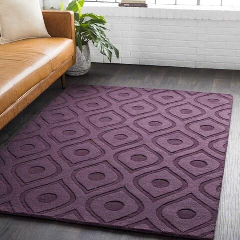 Carson Carrington Egede Hand-woven Tone-on-Tone Wool Rug