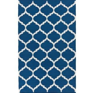 Hand-Woven Madison Moroccan Trellis Cotton Rug (3' x 5')