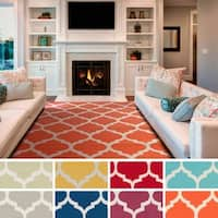 Hand-Woven Madison Moroccan Trellis Cotton Rug