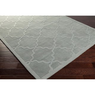 Hand-Woven Amy Tone-on-Tone Lattice Wool Rug (9' x 12')