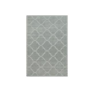 Hand-Woven Amy Tone-on-Tone Lattice Wool Rug (9' x 12')