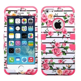 INSTEN Shock Proof PC Soft Silicone Dual Hybrid Phone Case Cover for Apple iPhone 5/ 5S/ SE