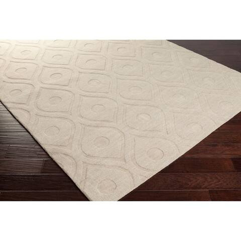 Carson Carrington Egede Hand-woven Tone-on-Tone Wool Runner Rug