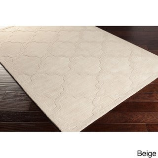 Hand-Woven Amy Tone-on-Tone Lattice Wool Rug (2'3 x 10')