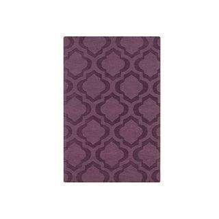 Hand-Woven Ali Tone-on-Tone Moroccan Trellis Wool Rug (9' x 12')