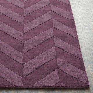 Porch & Den Alpine Hand-woven Tone-on-tone Zig-Zag Wool Area Rug (Purple - 8 x 10)