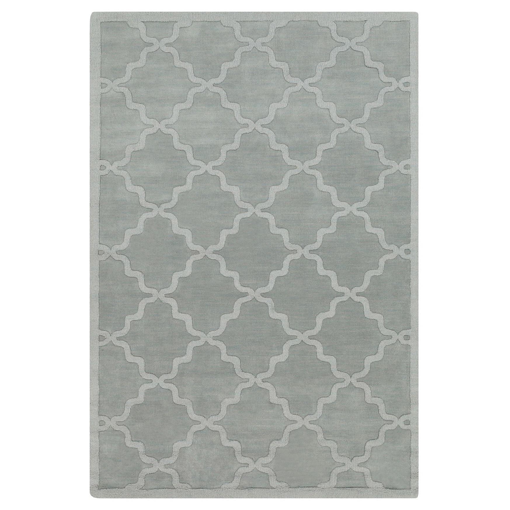The Gray Barn Margoyles Hand-woven Tone-on-Tone Lattice Wool Rug - 8' x 10'
