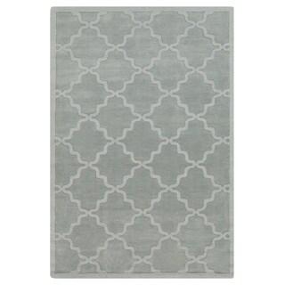 Hand-Woven Amy Tone-on-Tone Lattice Wool Rug (8' x 10')