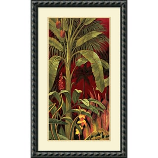 Rodolfo Jimenez 'Bali Garden I' Framed Art Print 21 x 35-inch