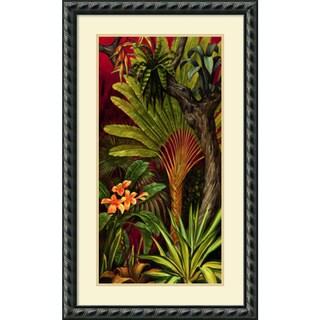Rodolfo Jimenez 'Bali Garden II' Framed Art Print 21 x 35-inch