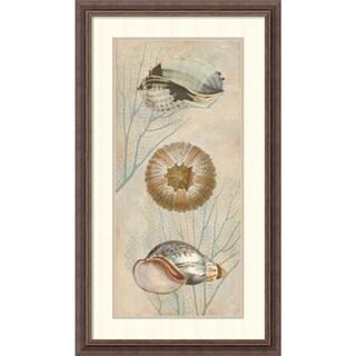 Deborah Devellier 'Ocean Companions II' Framed Art Print 19 x 32-inch
