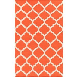 Hand-Woven Madison Moroccan Trellis Cotton Rug (9' x 12')