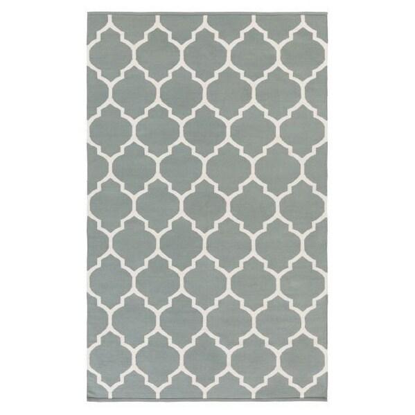 Hand-Woven Nicole Lattice Cotton Rug (8' x 10') - 8' x 10'
