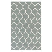 Hand-Woven Nicole Lattice Cotton Rug (8' x 10') - 8' x 10'