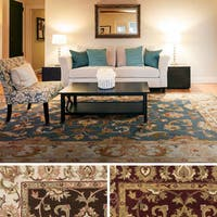 Hand-Tufted Tabitha Traditonal Bordered Wool Rug - 8' x 11'