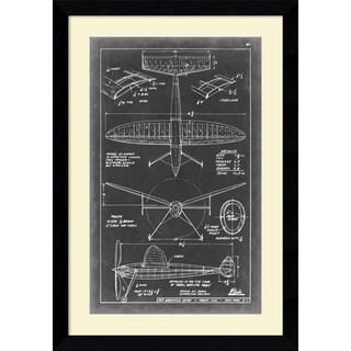 Vision Studio 'Aeronautic Blueprint III' Framed Art Print 26 x 37-inch