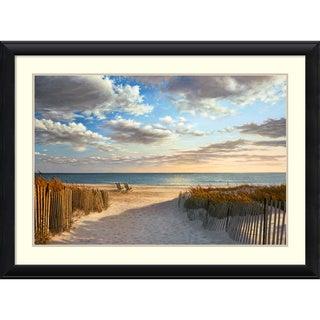 Daniel Pollera 'Sunset Beach' Framed Art Print 44 x 32-inch