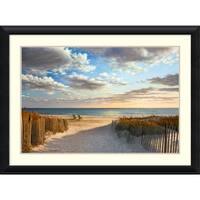 Framed Art Print 'Sunset Beach' by Daniel Pollera 44 x 32-inch