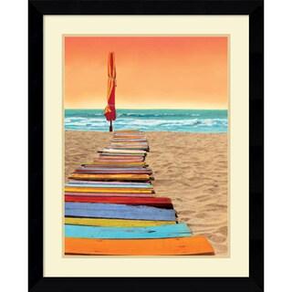 Robin Renee Hix 'Orange Beachwalk' Framed Art Print 26 x 32-inch