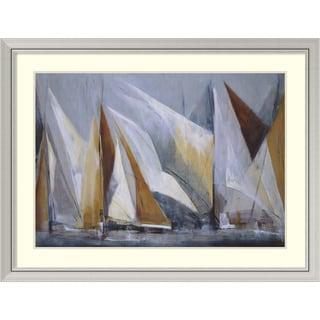 Maria Antonia Torres 'Ocean Regatta' Framed Art Print 44 x 33-inch