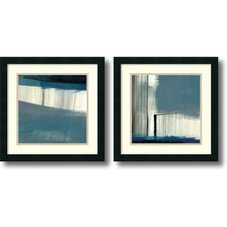 J. McKenzie 'Bluebird- set of 2' Framed Art Print 18 x 18-inch Each