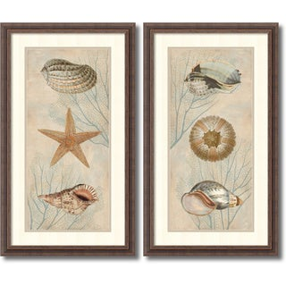 Framed Art Print 'Ocean Companions - set of 2' by Deborah Devellier 19 x 33-inch Each
