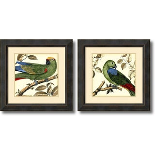 Framed Art Print 'Tropical Parrot - set of 2' by Martinet 23 x 23-inch Each