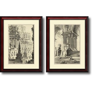 Giovanni Battista Piranesi 'Vintage Roman Ruins III & IV- set of 2' Framed Art Print 21 x 28-inch Each