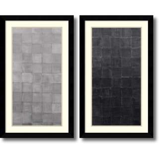 Renee W. Stramel 'Grey Scales- set of 2' Framed Art Print 23 x 38-inch Each