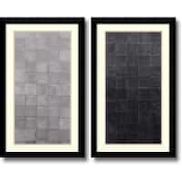 Framed Art Print 'Grey Scales  - set of 2' by Renee W. Stramel 23 x 38-inch Each