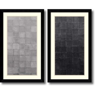 Framed Art Print 'Grey Scales - set of 2' by Renee W. Stramel 23 x 38-inch Each