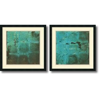 Renee W. Stramel 'Shattered Expectations- set of 2' Framed Art Print 25 x 25-inch Each