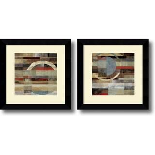 Tom Reeves 'Industrial- set of 2' Framed Art Print 20 x 20-inch Each