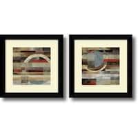 Framed Art Print 'Industrial  - set of 2' by Tom Reeves 20 x 20-inch Each