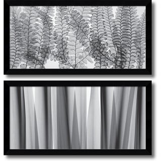 Steven N. Meyers 'Maidenhair Ferns & Yucca Leaves- set of 2' Framed Art Print 40 x 20-inch Each