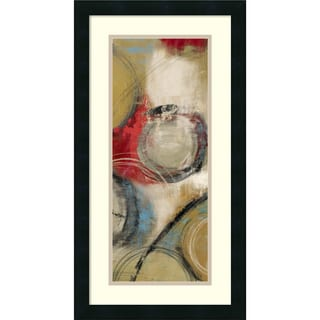 Framed Art Print 'Elemental Circles II' by Tom Reeves 14 x 26-inch