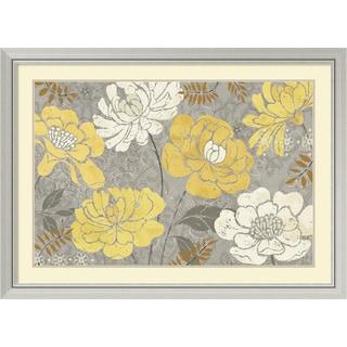 Daphne Brissonnet 'Morning Tones Gold III' Framed Art Print 44 x 32-inch