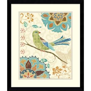 Daphne Brissonnet 'Eastern Tales Birds II' Framed Art Print 16 x 19-inch